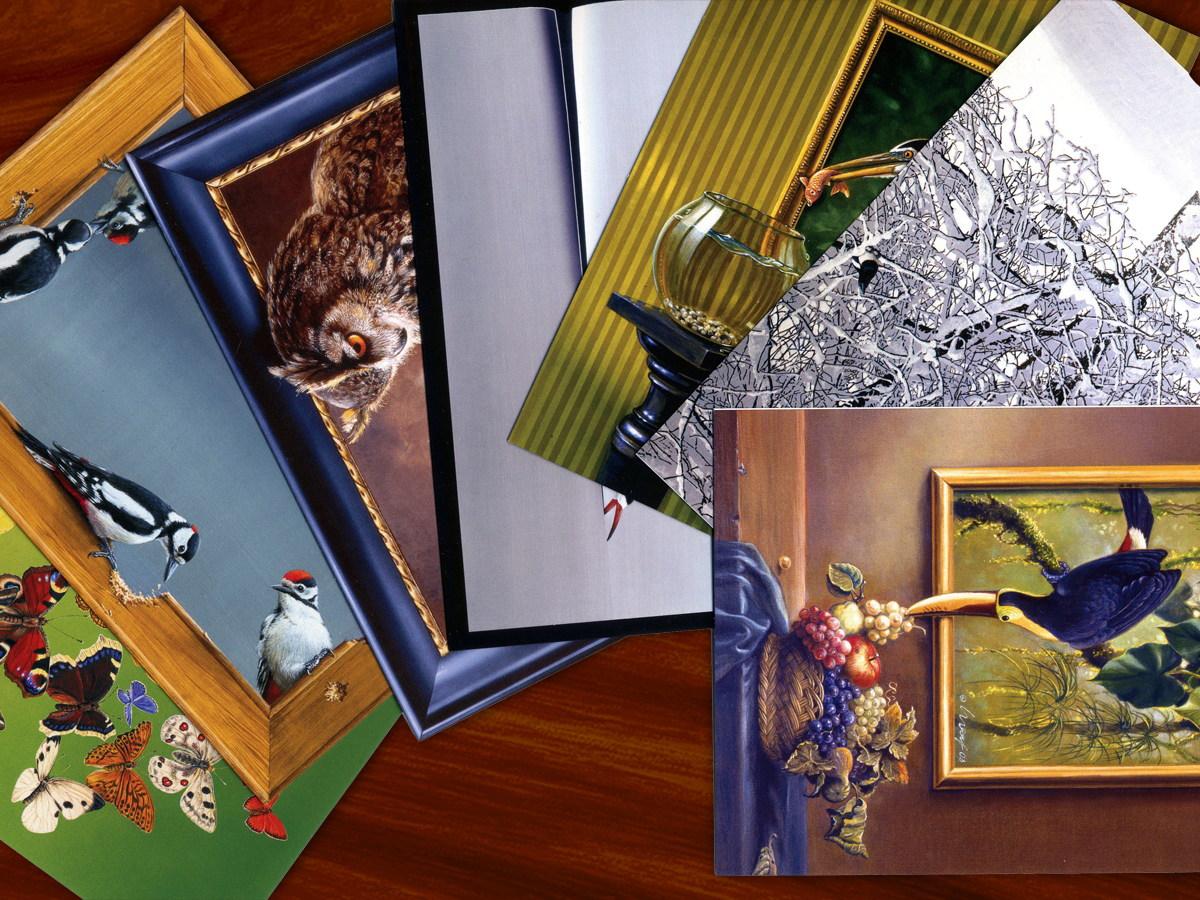 Postkarten-Set mit Motiven des Naturmalers Harro Maass